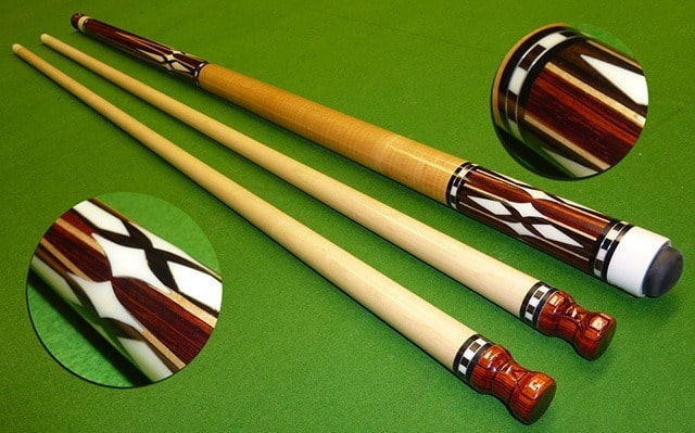 5 popular pool cue inlay design types cuesup for Pool design types