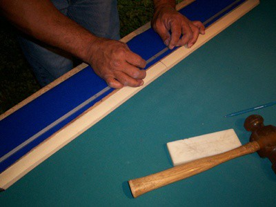 how to change pool table cushion